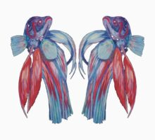 Siamese Fighting Fishes One Piece - Short Sleeve