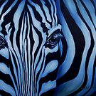 Blue Zebra Face by Cherie Roe Dirksen