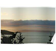 Summer Sunset, North Puget Sound, Washington Poster
