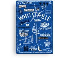 Hand-drawn Whitstable icons print Canvas Print