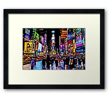 Go to Time Square ,Take a pic of me with a Leica  Framed Print