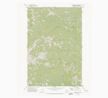 USGS Topo Map Washington State WA Timberwolf Mtn 244299 1971 24000 Kids Tee