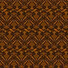 Orange And Black Ornate Vintage Lace by artonwear