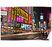 Let's go to Times Square Poster