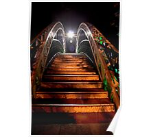 Bedford Embankment Bridge Steps Poster