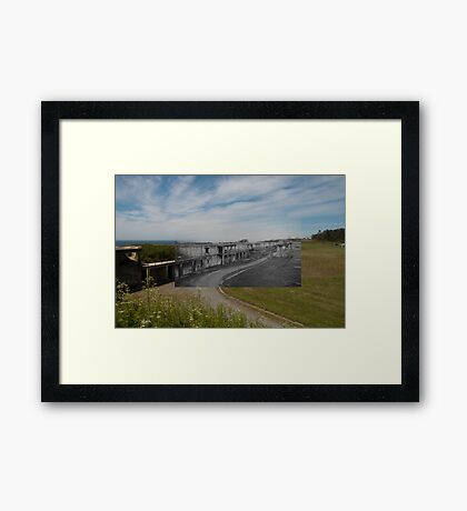 Looking into the Past: 1955-2010: Fort Casey Main Battery Line Framed Print