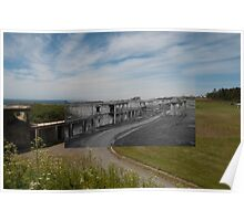 Looking into the Past: 1955-2010: Fort Casey Main Battery Line Poster