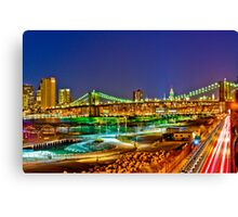 Happy Easter Night in NYC Canvas Print