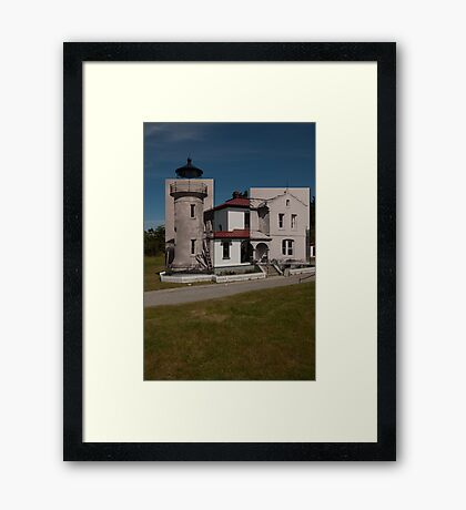 Looking into the Past: 1955-2010: Admiralty Head Lighthouse Framed Print