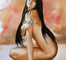 Watercolour Nude 13 by stevepress