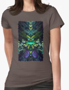 Fractal Fly Womens Fitted T-Shirt