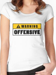 Warning Offensive Lockout Women's Fitted Scoop T-Shirt