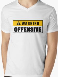 Warning Offensive Lockout Mens V-Neck T-Shirt