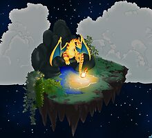Charizard-Two Lonely Island by Shikuroshi