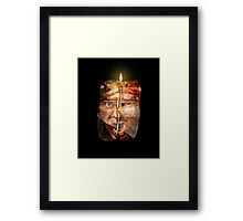 Man with baggage Framed Print