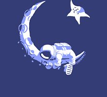 Moonstuck - Alternate Universe on Blue Womens Fitted T-Shirt