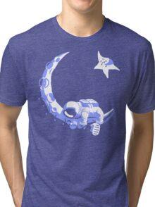 Moonstuck - Alternate Universe on Dark Red Tri-blend T-Shirt