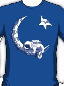 Moonstuck - Five O'Clock Shadow on Blue T-Shirt