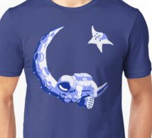 Moonstuck - Five O'Clock Shadow on Blue Unisex T-Shirt