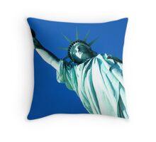 Looking at Lady Liberty Throw Pillow
