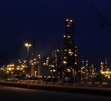 Anacortes Refinery by Jim Adams