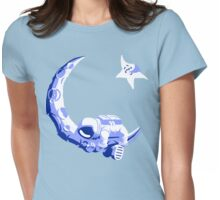 Moonstuck - Five O'Clock Shadow on Light Blue Womens Fitted T-Shirt