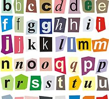 Alphabet - small letters by gepard