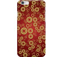 Red And Gold Geometric Circle Pattern iPhone Case/Skin