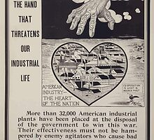 The hand that threatens our industrial life American industry  the heart of the nation 002 by wetdryvac