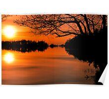 Cranberry Lake Sunset Poster