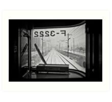 Life just like a Train Art Print