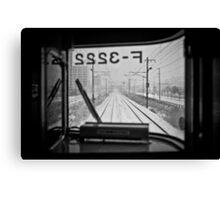 Life just like a Train Canvas Print