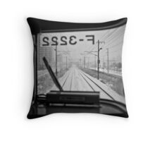Life just like a Train Throw Pillow