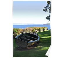 Lawn Boat Poster
