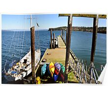 Boat Moorage Poster