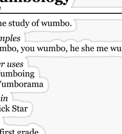 Wumbology Sticker