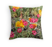 California Wildflowers Throw Pillow