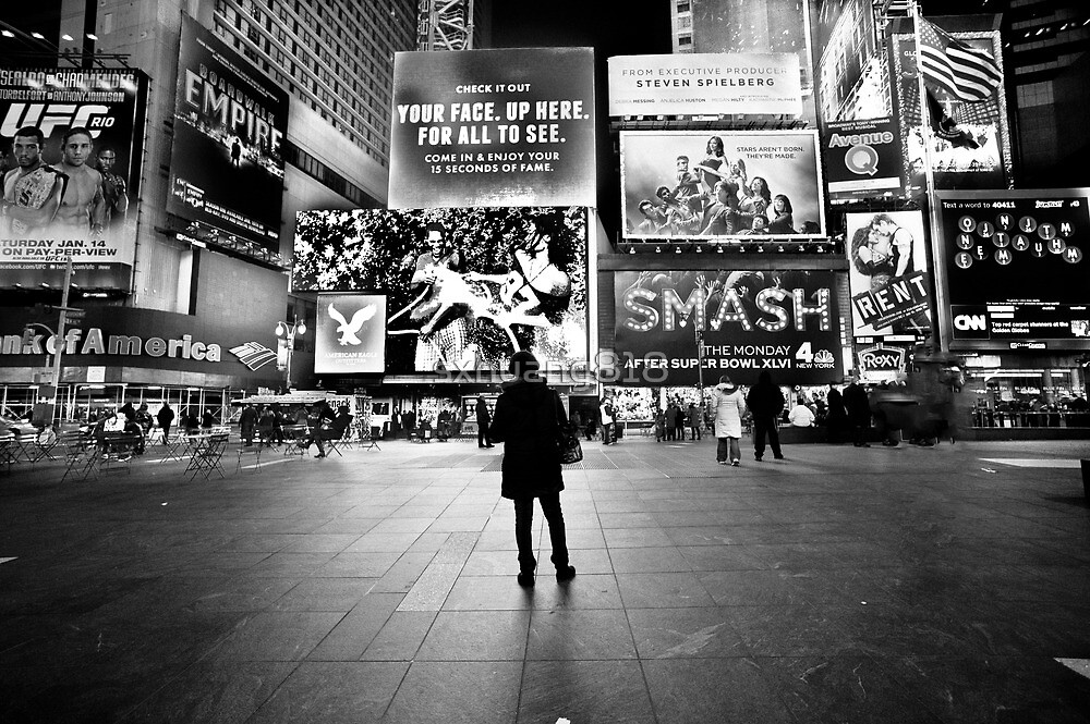 Waiting in Times Square by sxhuang818