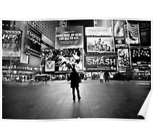 Waiting in Times Square Poster