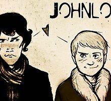 Johnlock - Card by MiseryHunting