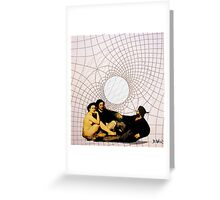 luncheon in the matrix Greeting Card