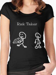 Risk Taker (Original stick figure version) Women's Fitted Scoop T-Shirt