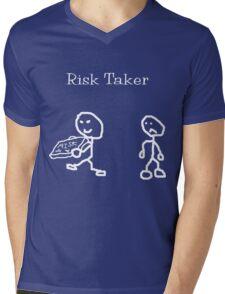 Risk Taker (Original stick figure version) Mens V-Neck T-Shirt