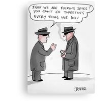 spy tweets Canvas Print