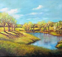 Spring (View at the Farm) by Randy  Burns