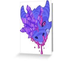 Pixel Dragon Greeting Card