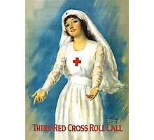 Red Cross Nurse Photographic Print