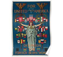 For united America YWCA division for foreign born women Poster