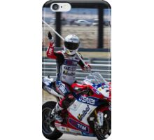 Carlos Checa at Miller Motorsports park 2012 iPhone Case/Skin