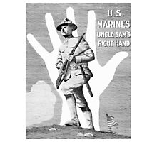 US Marines -- Uncle Sam's Right Hand Photographic Print